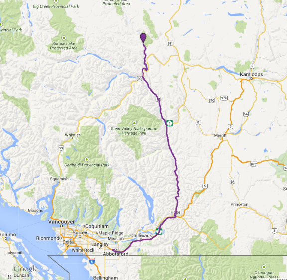Map to Cariboo Claims