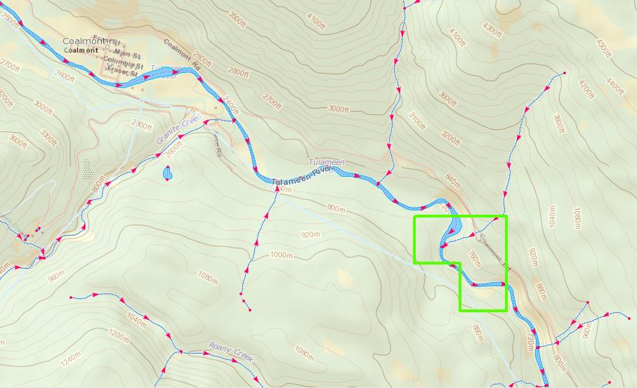 Coalmont Claim Location