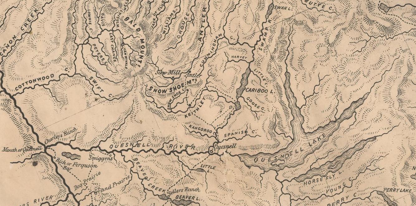 Cariboo Map Circa 1862