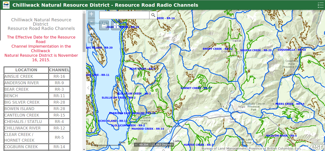 How To Program Your Radio for BC's Backroads | West Coast Placer