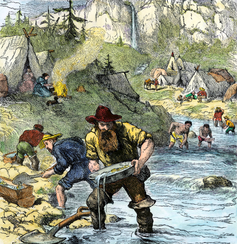 Fraser river gold rush